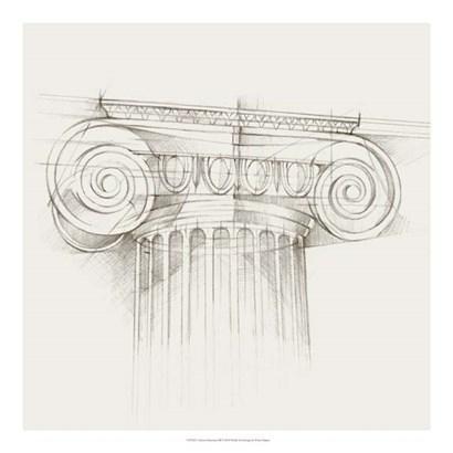 Column Schematic III by Ethan Harper art print