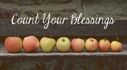 Count Your Blessings Apples by Color Me Happy art print