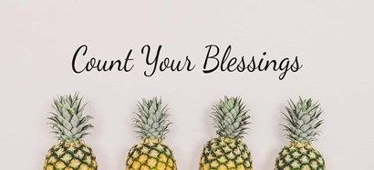 Count Your Blessings Pineapples by Color Me Happy art print