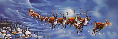 Twas the Night Before Christmas by Geno Peoples art print