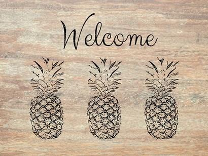 Welcome on Wood by Linda Woods art print