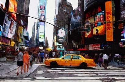 Times Square by Linda Woods art print