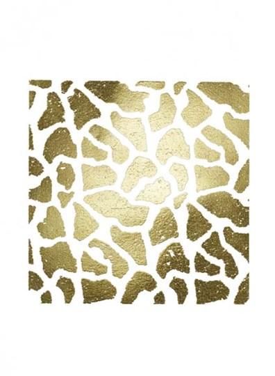 Gold Foil Giraffe Pattern on White by Vision Studio art print