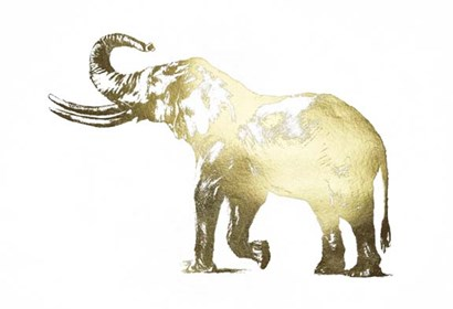 Gold Foil Elephant I by Ethan Harper art print