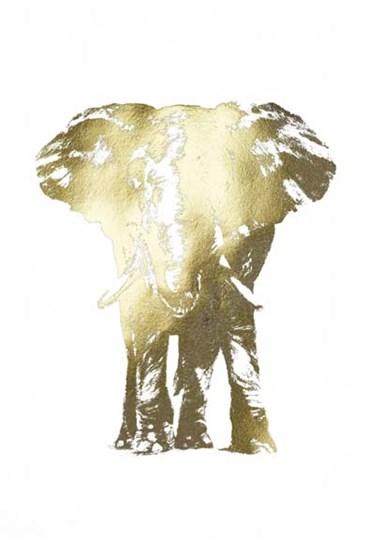 Gold Foil Elephant II by Ethan Harper art print
