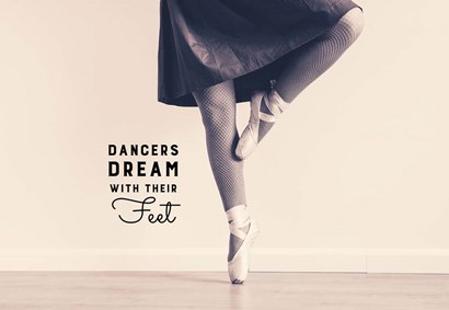 Dancers Dream With Their Feet by Color Me Happy art print