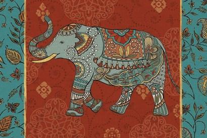 Elephant Caravan IIM by Daphne Brissonnet art print