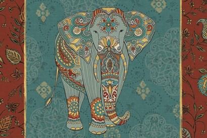 Elephant Caravan IB by Daphne Brissonnet art print