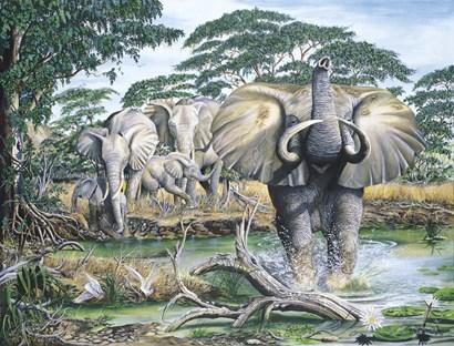 Unrest On The Serengeti by Dann Spider Warren art print