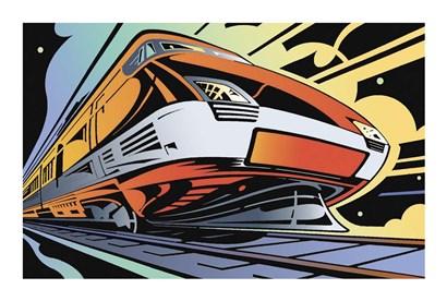 Train-High Speed by David Chestnutt art print