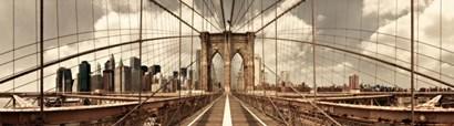 Brooklyn Bridge (sepia) by Shelley Lake art print