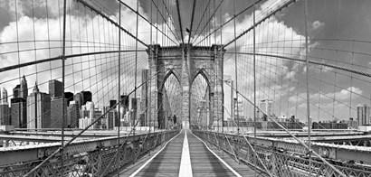 Brooklyn Bridge BW by Shelley Lake art print
