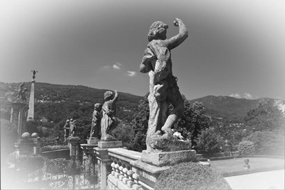 Statues BW by Christopher Bliss art print