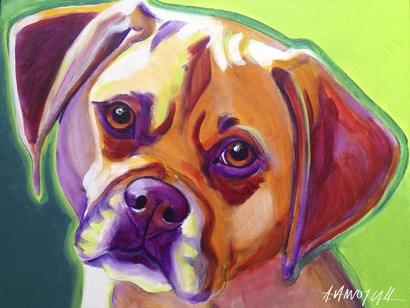 Puggle - Cooper by DawgArt art print