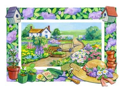 Garden Scene by Geraldine Aikman art print