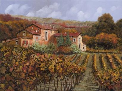 Tra Le Vigne a Montalcino by Guido Borelli art print