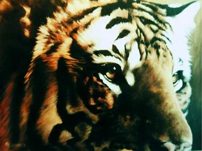 Tiger Eye by Linda Daniels art print