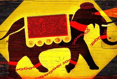 Elephant by Anthony Freda art print