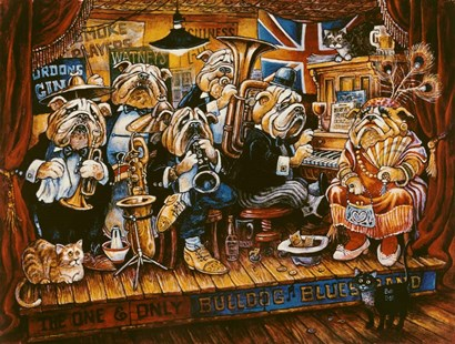 Bull Dog Blues Band by Bill Bell art print