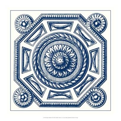 Indigo Medallion II by Vision Studio art print