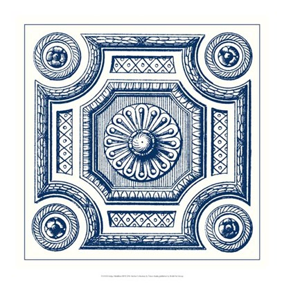 Indigo Medallion III by Vision Studio art print