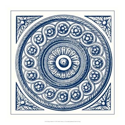Indigo Medallion V by Vision Studio art print