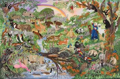 Noah's Rainbow #5 by Carol Salas art print