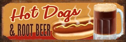 Rootbeer And Hot Dog by RetroPlanet art print