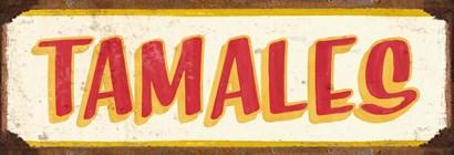 Tamales Cream by RetroPlanet art print