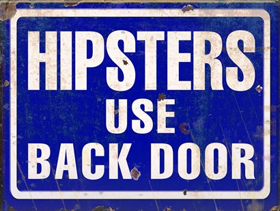 Hipsters Use Back Door by RetroPlanet art print
