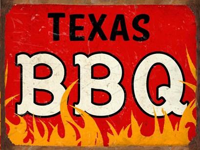 BBQ Texas by RetroPlanet art print