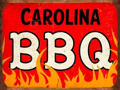 BBQ Carolina by RetroPlanet art print