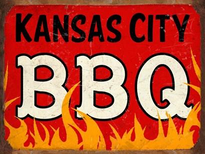 BBQ Kansas City by RetroPlanet art print