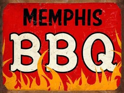 BBQ Memphis by RetroPlanet art print