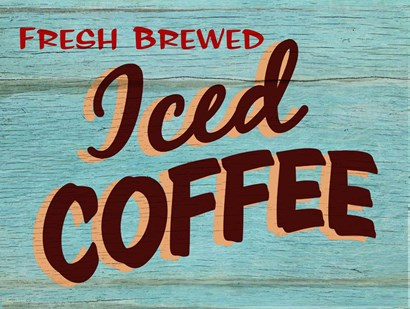 Iced Coffee Rustic - Rectangle by RetroPlanet art print