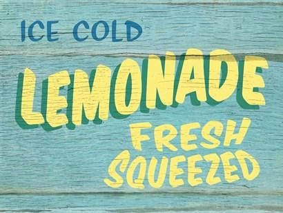 Lemonade Rustic - Rectangle by RetroPlanet art print