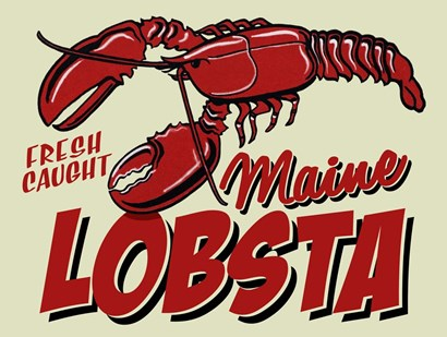 Lobster by RetroPlanet art print