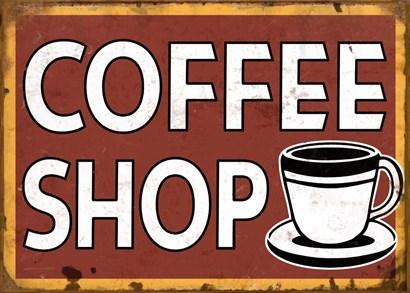 Coffee Shop by RetroPlanet art print