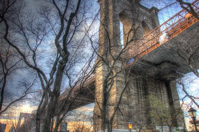 Brooklyn Bridge Early Spring by Robert Goldwitz art print