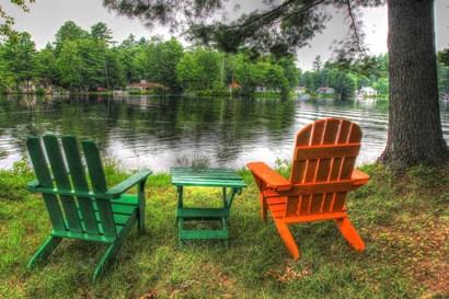 Lakeside Chairs by Robert Goldwitz art print