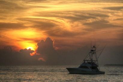 Key West Sport Fisher Sunset by Robert Goldwitz art print