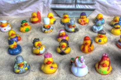 Rubber Duckies by Robert Goldwitz art print