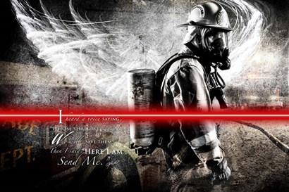 Send Me Firefighter 1 by Jason Bullard art print