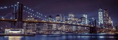 New York at Night by Assaf Frank art print