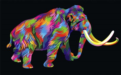 Wooly Mammoth by Bob Weer art print