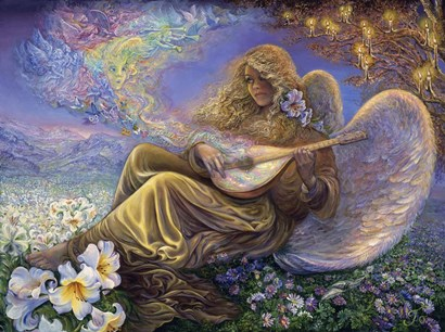 Angel Melodies by Josephine Wall art print
