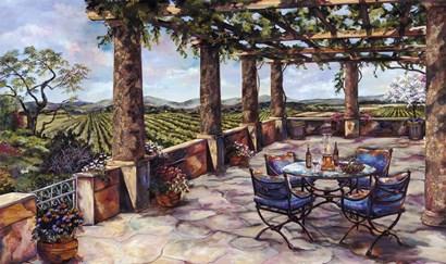 Vineyard Veranda by Karen Stene art print