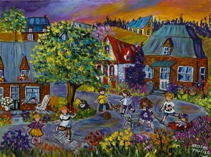 Summer Play by Katerina Mertikas art print