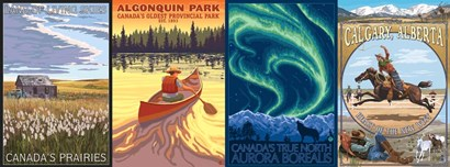 Canadian Pano 1 by Lantern Press art print