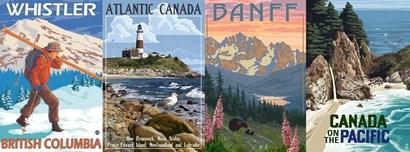 Canadian Pano 2 by Lantern Press art print